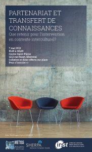 Affiche du symposium - 3 chaises et le titre