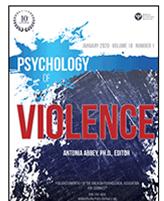 Page couverture de la revue Psychology of violence